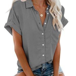 QUINIE Short Sleeve Button Down Shirt